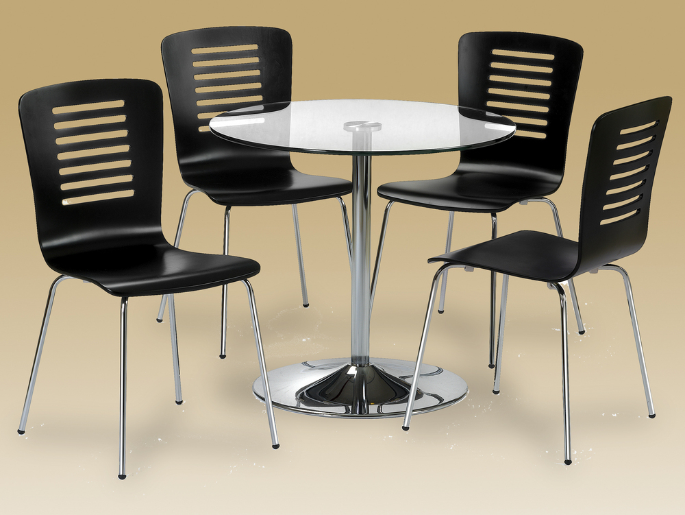 Julian Bowen Kudos Circular Table & 4 Chairs