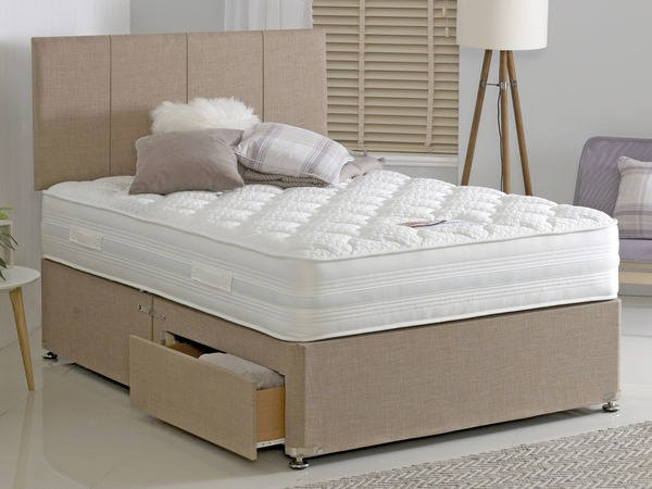Durabed Memorize Double Divan Set with 2 Free Drawers & Headboard