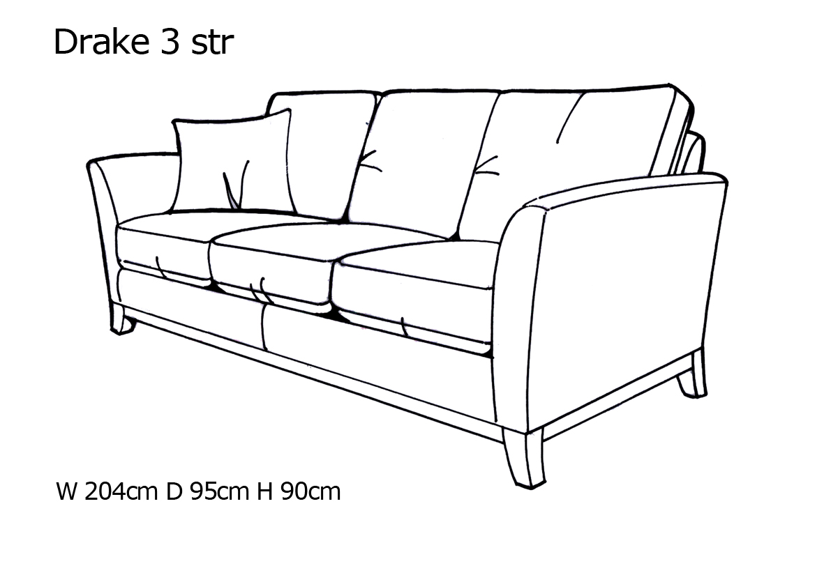 Yeoman Drake 3 Seater Sofa John Long Furniture Centre