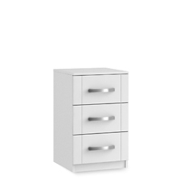 Maysons Roma Gloss 15″ 3 Drawer Bedside Cabinet