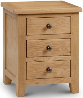 Julian Bowen Marlborough 3 Drawer Bedside Chest
