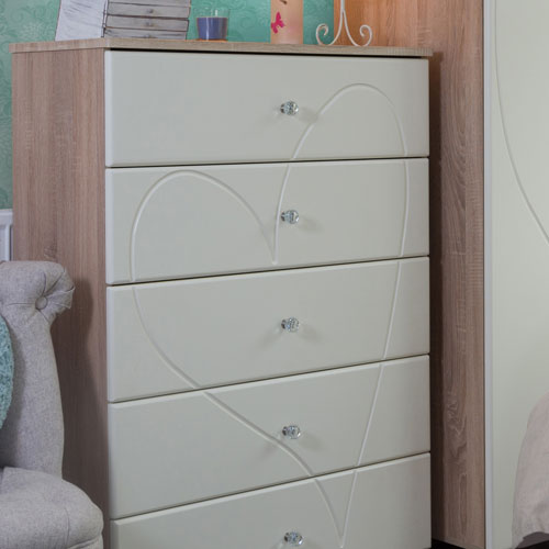 SJ Units Amorè 800 5 Drawer Chest