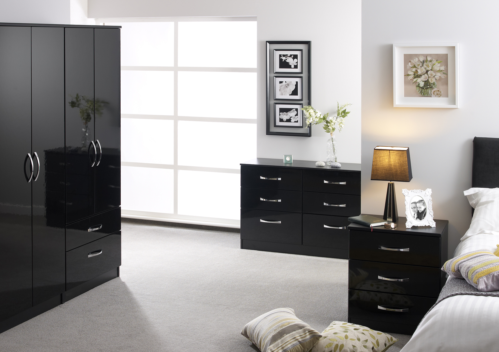 Maysons Roma Gloss Tall Double Wardrobe