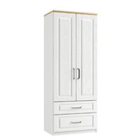 Maysons Sorrento Tall 2 Drawer Gents Wardrobe