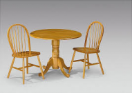 Julian Bowen Dundee Drop Leaf Table & 2 Windsor Chairs