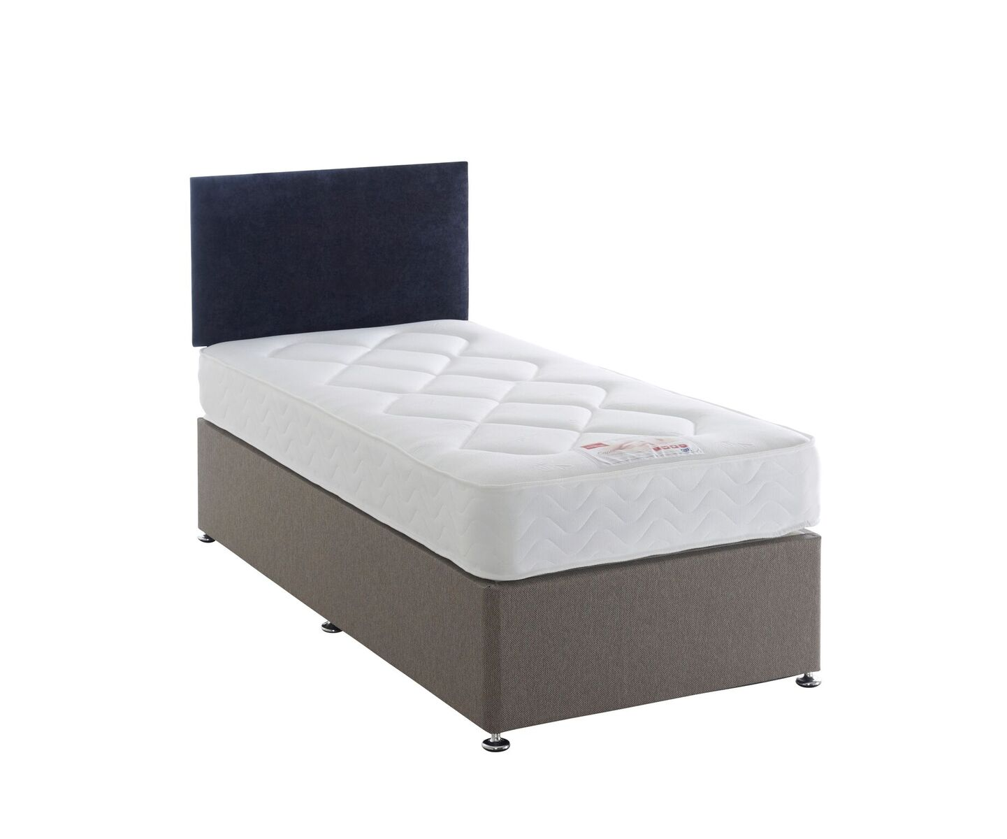 Durabed Capri Single Divan Set with 2 Free Drawers & Headboard