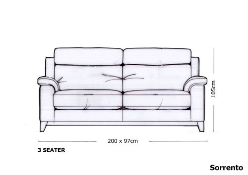 Yeoman Sorrento 3 Seater Sofa