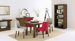Bentley Akita 4-6 Ext Table & 4 Ella Scoop Back Chairs