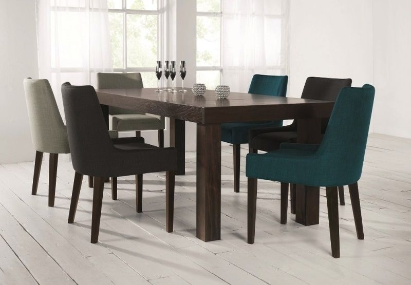 Bentley Akita 6-8 Ext Table & 6 Ella Scoop Back Chairs