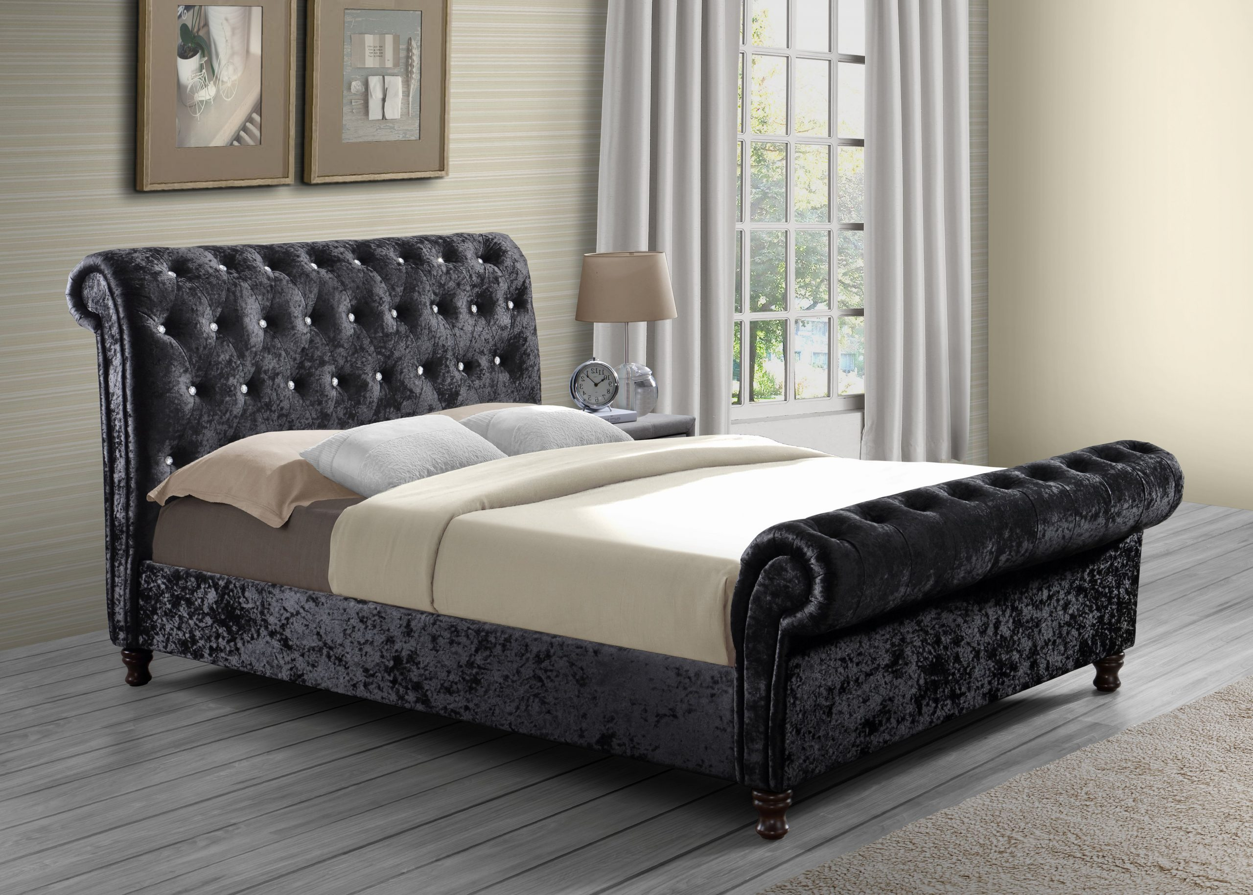 Birlea Bordeaux Kingsize Fabric Bedframe