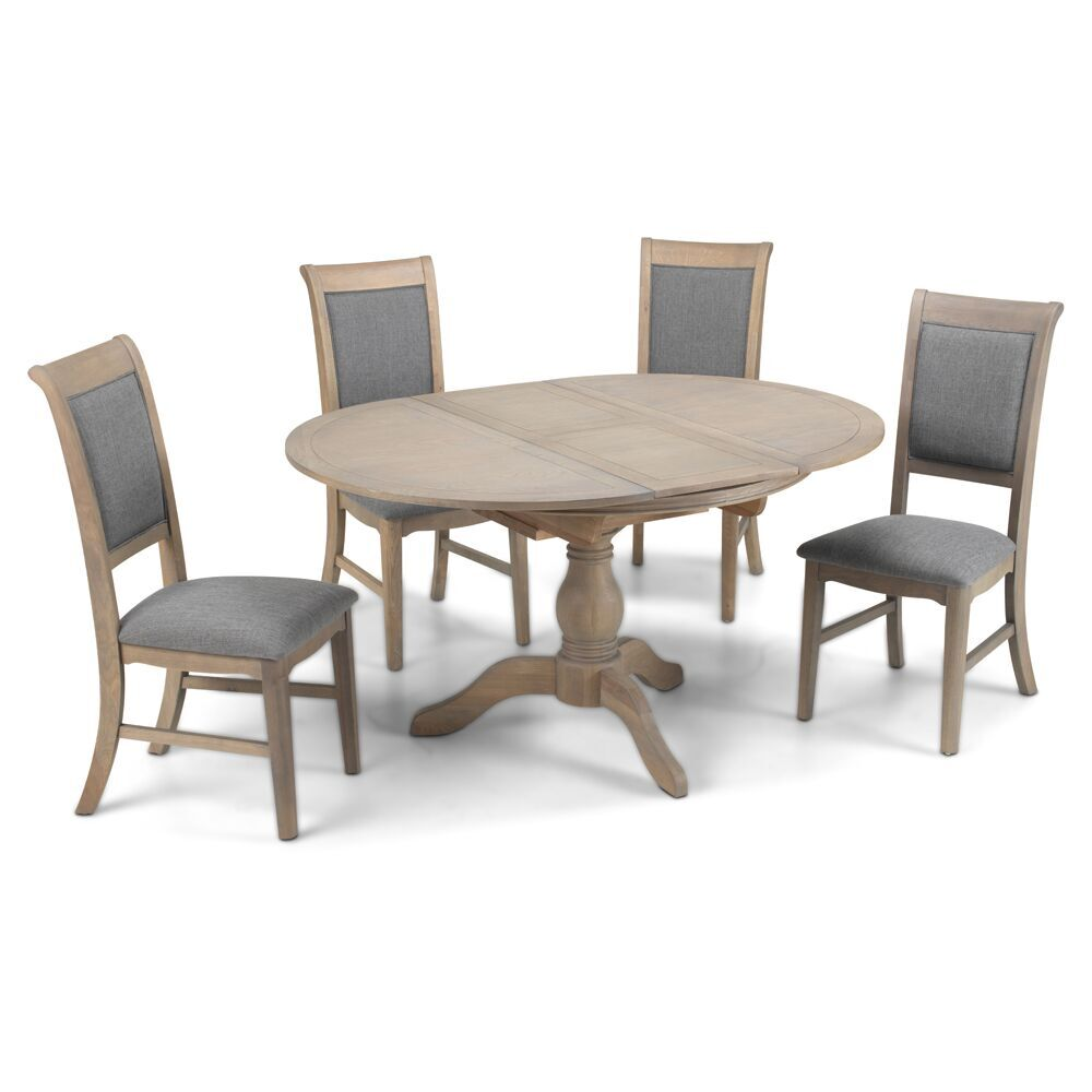 Hereford Colby Circular/Oval Ext Table & 4 Chairs