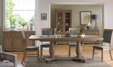 Hereford Colby Double Pedestal Ext Table & 6 Chairs