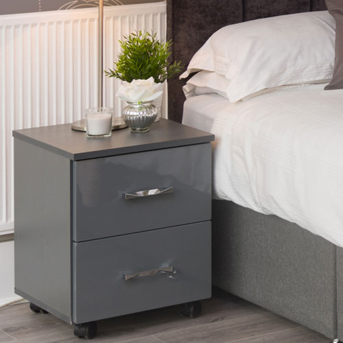 SJ Units Nimbus 2 Drawer Bedside Cabinet