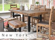Mark Webster New York Dining Table, 4 Chairs & Bench