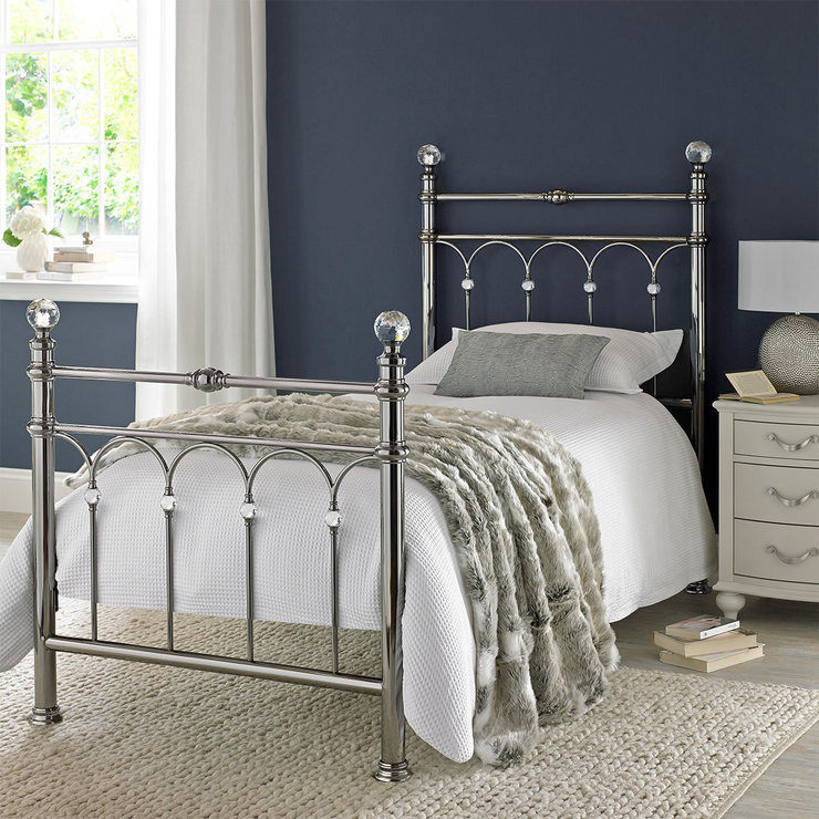 Bentley Designs Krystal Shiny Chrome Single Bedframe