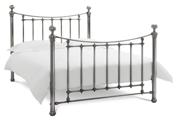 Bentley Designs Isabelle Antique Nickel Double Bedframe
