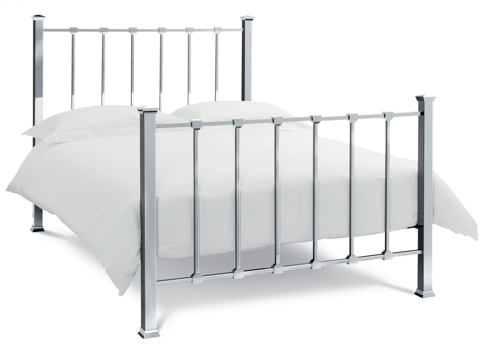 Bentley Designs Madison Shiny Nickel Double Bedframe