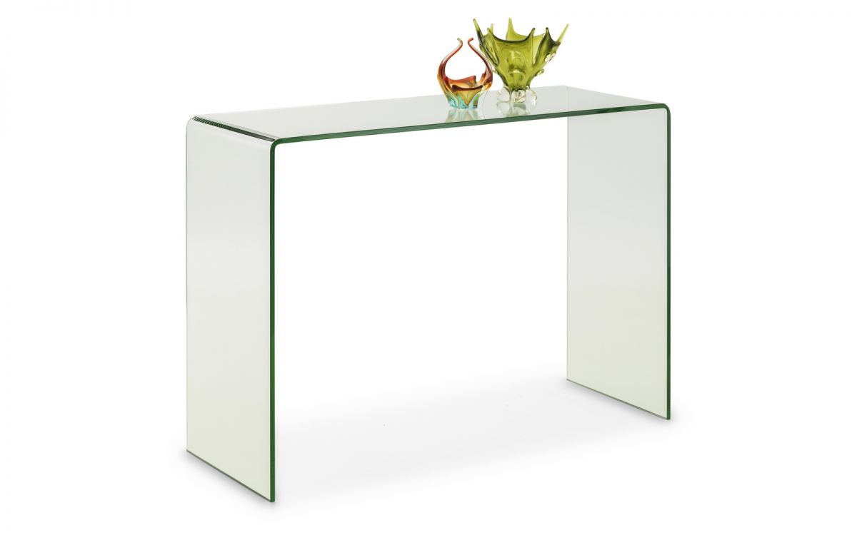 Julian Bowen Amalfi Glass Console Table