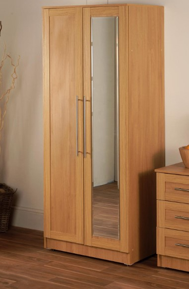 Maysons Parma Oak Double Mirrored Wardrobe