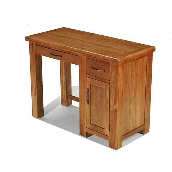 Hereford Saxon Oak Single Computer Desk