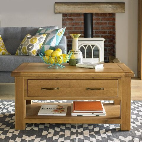 Hereford Saxon Oak Coffee Table with Drawers