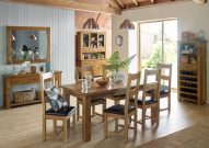Hereford Saxon Oak Medium Extending Table & 4 Chairs
