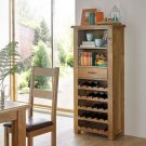 Hereford Saxon Oak Tall Wine Cabinet