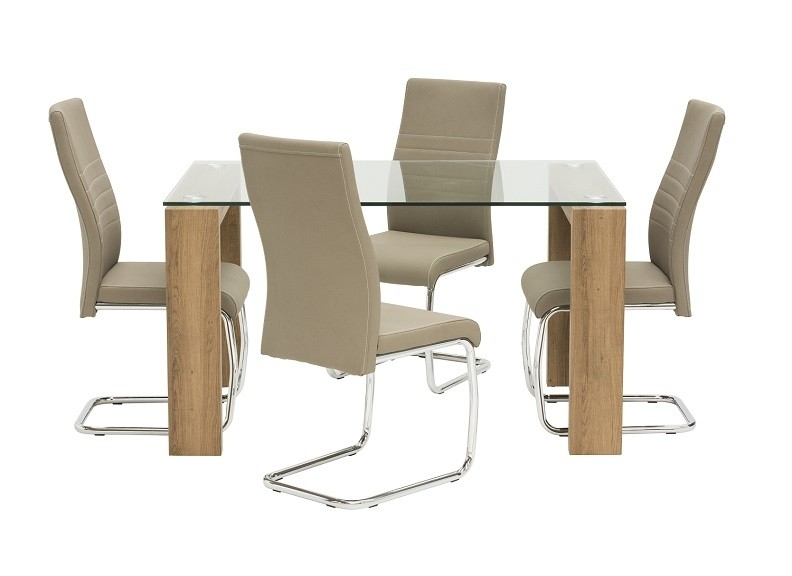 World Furniture Casa 1.3m Table & 4 Chairs