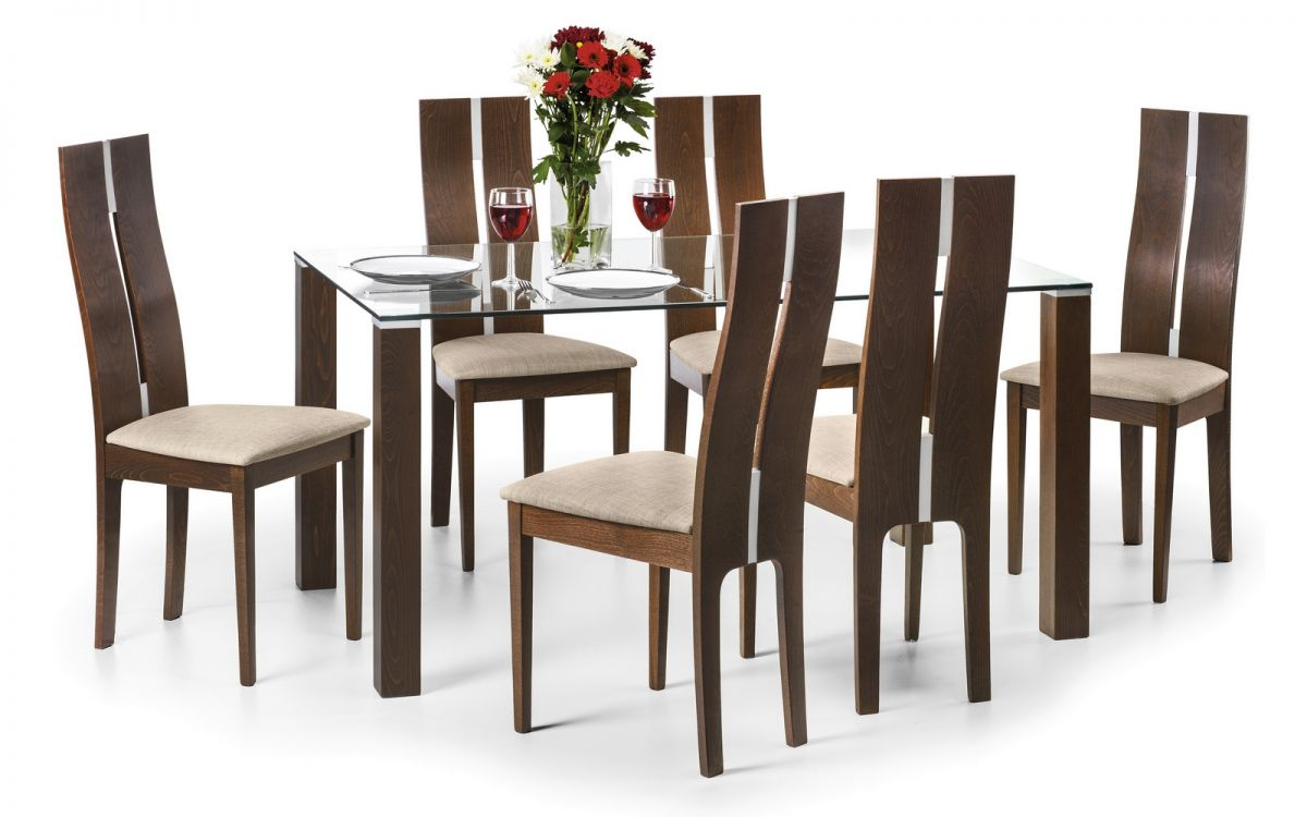 Julian Bowen Cayman Table & 6 Cayman Chairs