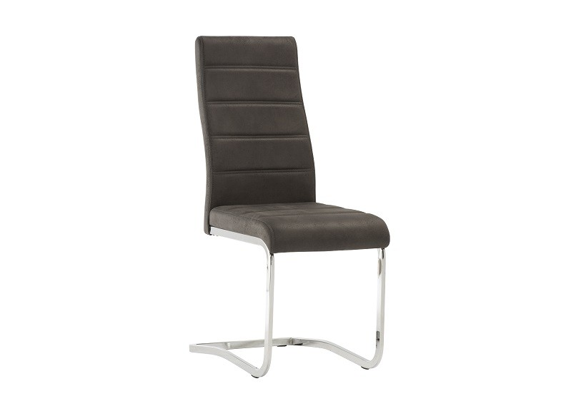 World Furniture Eaton Table & 4 Naples Grey Chairs