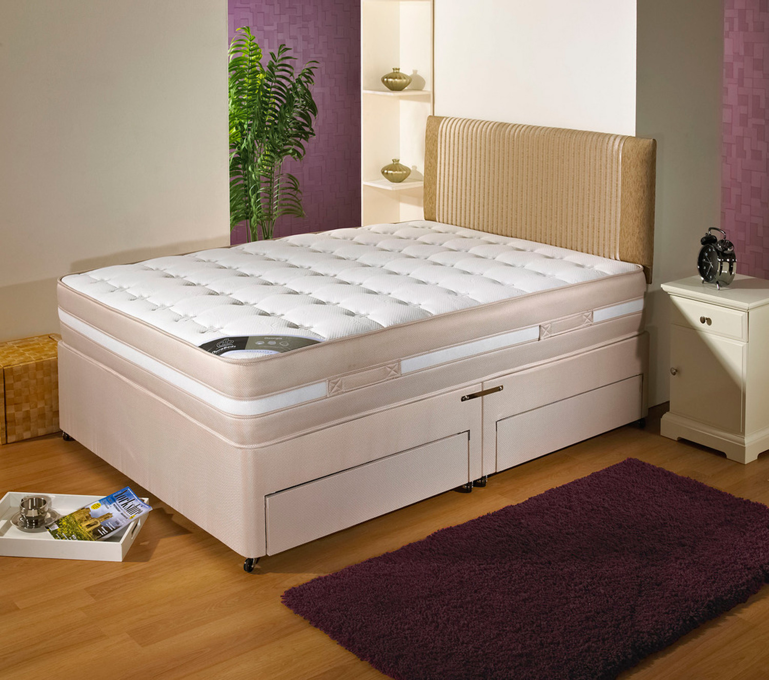 Durabed Georgia Double Divan Set with 4 Free Drawers