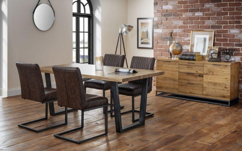 Julian Bowen Brooklyn Table & 4 Chairs