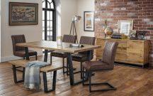 Julian Bowen Brooklyn Table, 4 Chairs & Bench