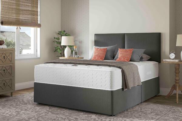 Slumberland Comfort Pure 1000 Double Divan Bed 2 Free Drawers